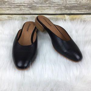 Jeffrey Campbell Mula 2 Black Leather Mule Slides